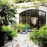 Mosaic kitchen and garden tiles