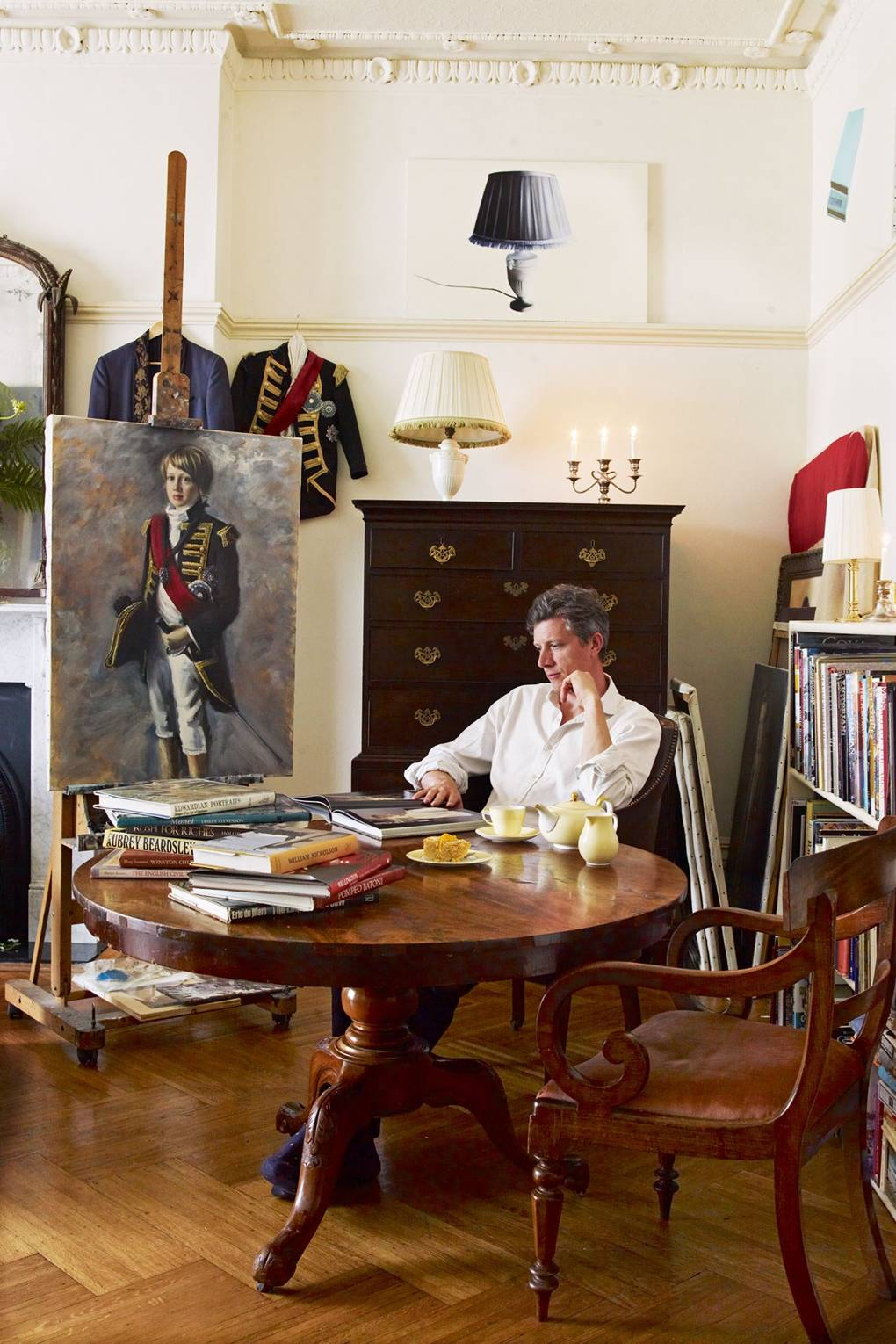 Artists Mr and Mrs Philip Cath at home in London | House & Garden