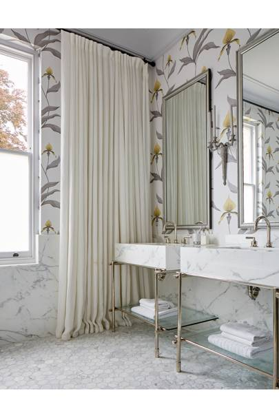 Wallpaper Bathroom - Modern Victorian Oxford House