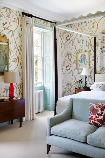 Floral Vine Wallpaper Bedroom