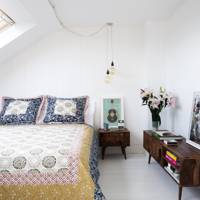 Small White attic Bedroom