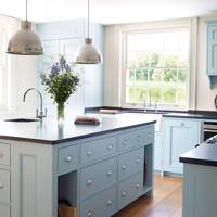 Light Blue Kitchen Units