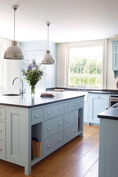 Light Blue Kitchen Units
