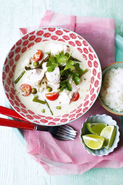 Thai green fish curry