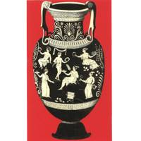 Ancient Greek Vase Print - Red, £50