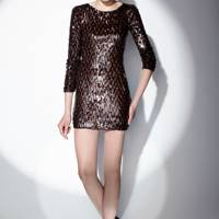 Bronze All Over Sequin Dress