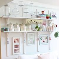 Add Some White Kitchen Shelves