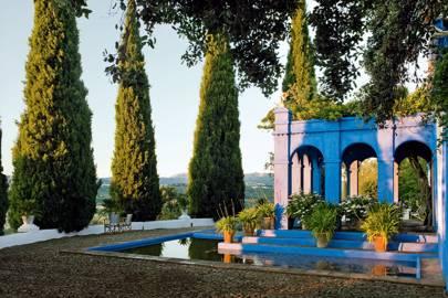 Azure Blue Traditional Farmhouse