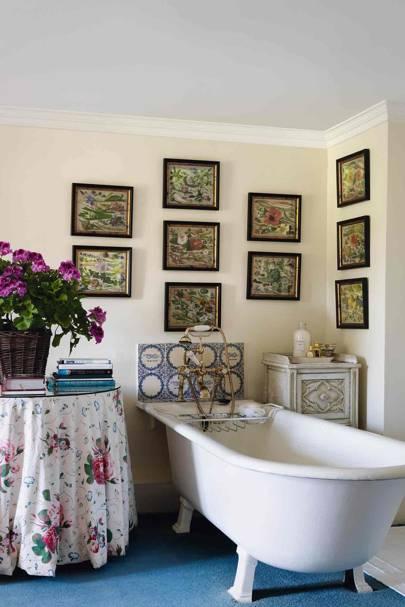Roll-top Bath in Country Bathroom