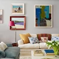 Pale grey living room idea
