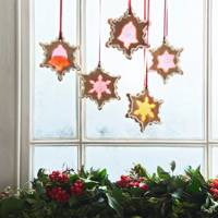 Stained Glass Window Biscuits - Christmas Decorating Ideas