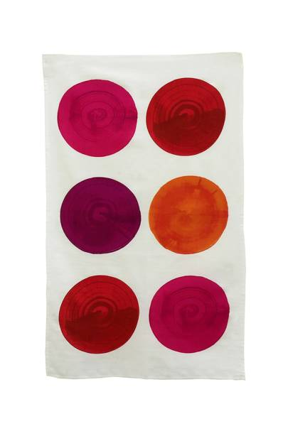 October 20: Erskine Rose Ruby Red Tea Towel, £15