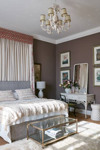 Purple Brown Bedroom