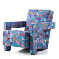 Bright Geometric Wool Armchair