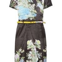 Akiko Printed Silk Dress