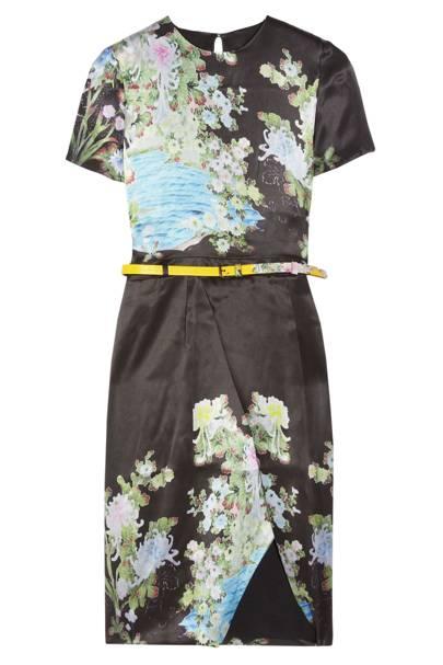 Akiko Printed Silk Dress