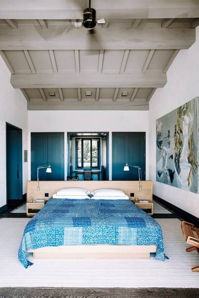 Blue-painted Woodwork | Bedroom Ideas