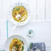 Winter squash, prosciutto and sage risotto