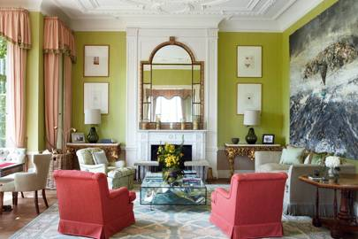 Acid Green Country House Drawing Room