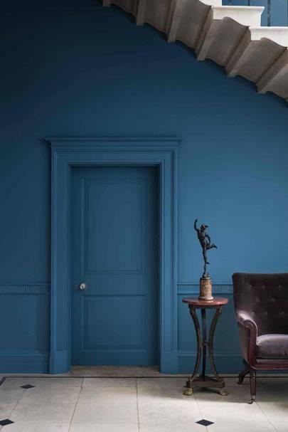 Deep Blue Hallway
