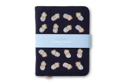 July 19: Elizabeth Scarlett Embroidered Ananas Cloud Zip Journal, £30