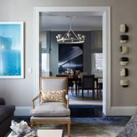 Gold Detail Armchair - Modern Park Avenue Apartment
