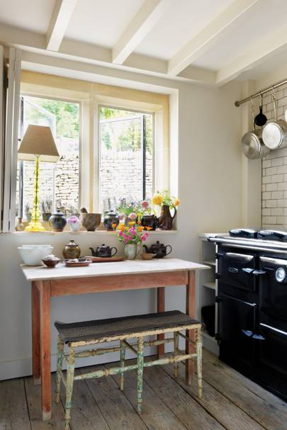 Small Kitchen with Black Rayburn