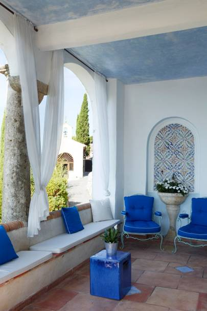 Covered Patio Armchairs - A House in the South of France