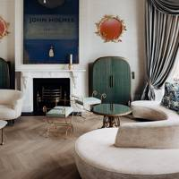Drawing Room Fireplace - At Home: Maddux Creative London House