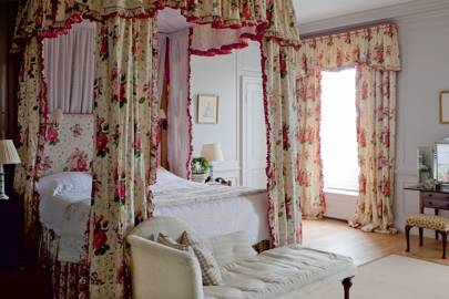 Traditional Pink & White Bedroom