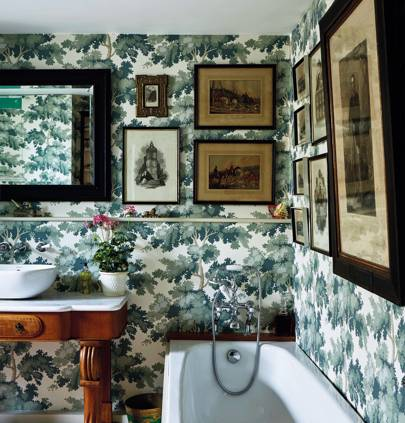 The bathroom of Jack Brister and Richard Nares' home in Frome, Somerset