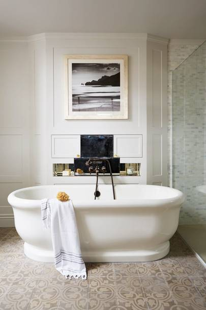 Luxurious Bathroom with Freestanding Bathtub