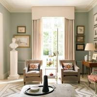 Traditional Muted Colours Drawing Room
