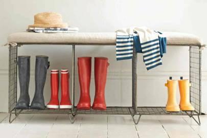 Storage Bench - Utility Room Ideas