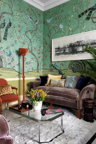 de Gournay Wallpaper, 'St Laurent'