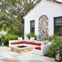 Modern Patio Seating Area