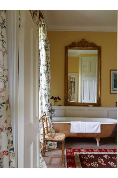 Yellow Traditional Bathroom