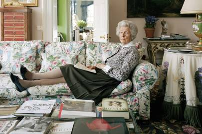 Deborah, the Duchess of Devonshire at Chatsworth Old Vicarage