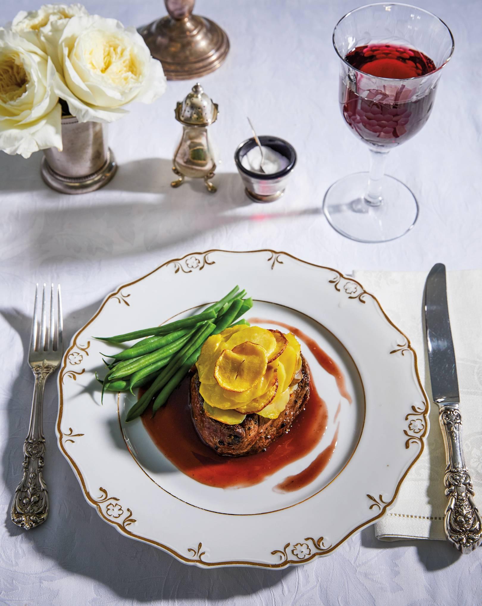 Filets mignon Lili from the Downton Abbey Cookbook