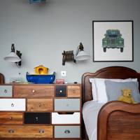 Mismatched Drawers in Boy's Bedroom