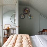 Blue Attic Bedroom