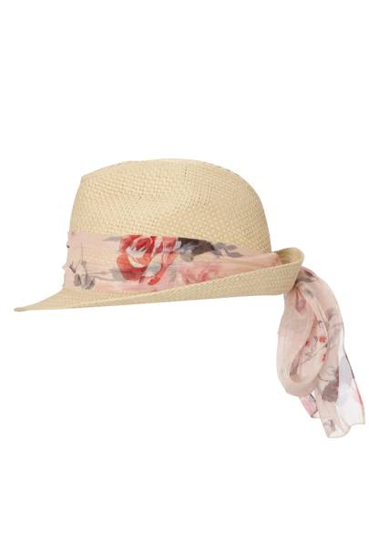 Floral Tie Hat