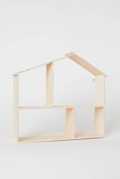 House-shaped wooden shelf, H&M, £19.99