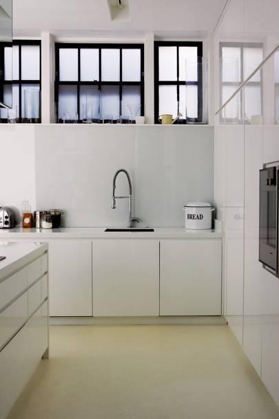 Bright, white kitchen