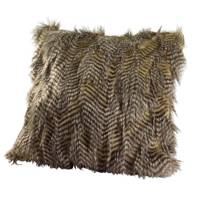 Faux Fur Pheasant Cushion