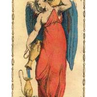 Temperance from The Ancient Tarot of Lombardy