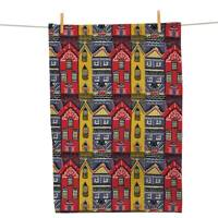 'Houses' Tea Towel