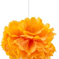Orange Paper Pom Pom