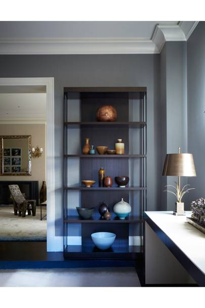 Kitchen Shelving - Modern Park Avenue Apartment