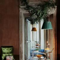 Hallway with Christmas Foliage